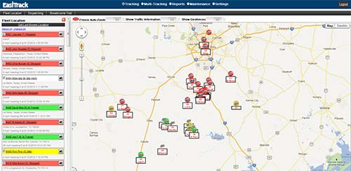 Tracking Module - Real time satellite map